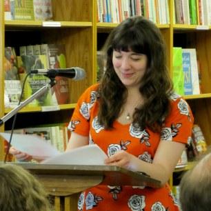 Nonfiction writer Dana D'Amico reads new work. (Photo by grey doolin / greyspacephotography.net)
